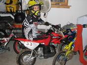 Austin as a dirt bike rider