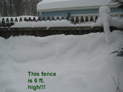 Buried 6 ft fence