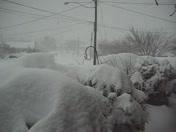 Snowy street in Quarryville