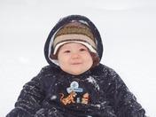 Joels First Snow!!!