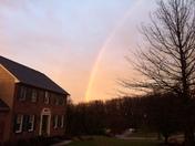 Rainbow over spring grove