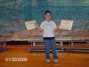 kyle getting awards at school