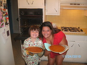 Jenn and Kevin's pumpkin pies are done