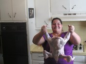 Jenn holding the turkey