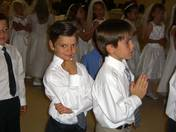 Nick's first communion