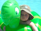 Collin in his Turtle