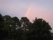 Pix of rainbow outside my door tonight