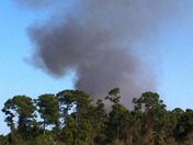 Fire in Jensen Beach