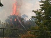 Fort pierce brush fire taken from backyard