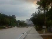 Fire after a storm. Port saint lucie fl