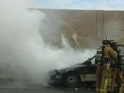 Car fire i95& 6th ave lk worth