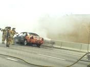 Car fire i95&6th ave lk worth