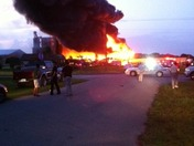 Feed mill on fire in Okeechobee. Out of control.