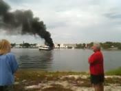 Stuart fl sandsprit park boat fire 3/28