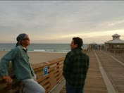 People of the Juno Beach Pier