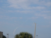 SPACE SHUTTLE DISCOVERY VAPOR TRAIL FADING 2-24-2011