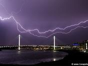 Lightning Over The Bridge