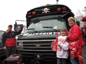 Hangin at the Husker Bus