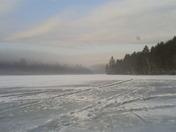 Ice Fishing Mine Pond Porter,Maine