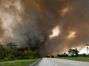Fire Closes I-95 in Indian River County