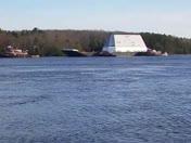 DDG 1000 USS Zumwalt deck house arrives at BIW
