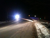 Portland & Westbrook Power Outage Jan 24 2013 Pole Down in Stroudwater befor