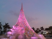 WPB Downtown Waterfront Sand Christmas Tree