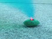 green smoke bomb by Erin Darby