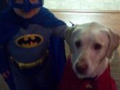 Batman and Superdog...Batman is Joseph Deverter and his best buddy Dixie