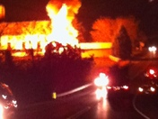 Pics of Fire on 322 near Spangler road