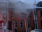 Saturday morning fire on Queen St.