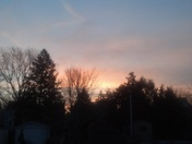 Picture of sunrise over Lititz