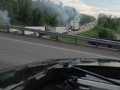 fire on turnpike