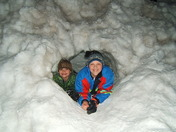 Snow fort and friends