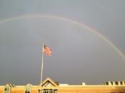 double rainbow over Kellogg