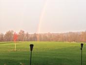 Rare morning rainbow