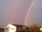 Today's beautiful rainbow outdoors