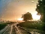 Sunshine bursting through a storm cloud