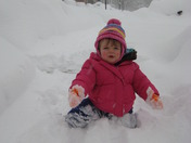 Katie's first time in the snow