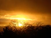 sunset over albuq.