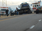Motorcycle accident I-25 North 4:00 pm today