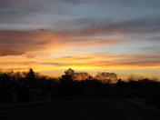 Sunset near Santa Fe