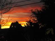 Fiery Monday Sunset