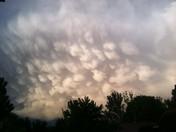 Cumulonimbus mamma clouds