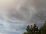 White water fire smoke