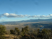 Winter clouds over Perdenal, Abiquiu Reservoir and Chama River