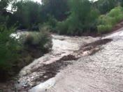 Flooding in Seton Village Arroyo