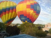 Balloons in the Las Arboledas north valley neighborhood