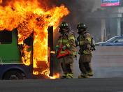 MotorHome Fire on I 40