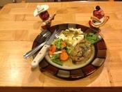 Baked Pork Chops with Green Chile & Mushroom Gravy
